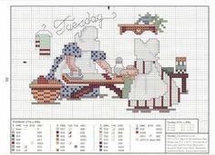 Just Cross Stitch Patterns Cross Stitch Kitchen, Just Cross Stitch, Cross Stitch Needles, Cross Stitch Charts, Cross Stitch Designs, Cross Stitch Patterns, Cross Stitching, Cross Stitch Embroidery, Sue Sunbonnet