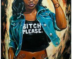 JEREMY WORST Bitch Please Original Artwork Signed by JeremyWorst