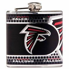 Falcons NFL 6oz Metallic Wrap Flask