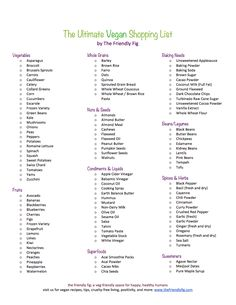 The Ultimate Vegan Shopping List                                                                                                                                                                                 More