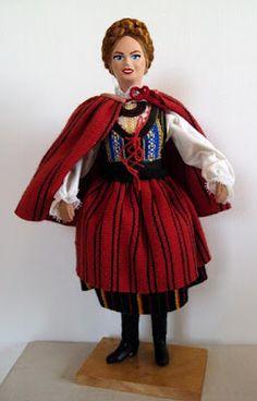 Polish Folk Doll - Maiden from Kielce Small World, Polish, Costumes, Disney Princess, Pattern, History, Life, Style, Swag