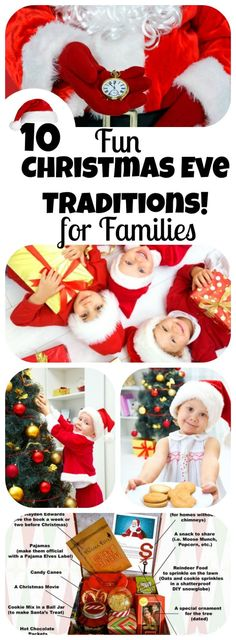 Sparkle up your Christmas Eve by adding one of these fun family traditions to your special day! From Jingle Mingles to Elf visits! 10 Fun Christmas Eve Traditions for Families! || Letters from Santa Holiday Blog ||