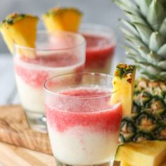 Delicious Lava Flow Cocktail combines strawberry, pineapple and coconut! So yum! Malibu Coconut, Coconut Drinks, Pineapple Coconut, Summer Drink Recipes, Summer Drinks, Cocktail Recipes, Lava Flow Drink, Orange Drinks, How To Make Drinks