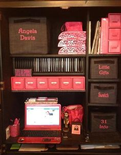"I want this desk! Organized AND personalized with items from Thirty-One's ""Your Way"" home organizing collection"