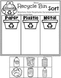 Looking for fun Earth Day Activities for kids? Check out these 16 Hands-On Earth Day Learning Activities and Crafts for Preschool or Kindergarten. Earth Day Worksheets, Earth Day Activities, Preschool Worksheets, Preschool Learning, Teaching, Tracing Worksheets, Classroom Activities, Earth Day Projects, Earth Day Crafts