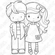 Resultado de imagen de boy and girl digital stamps