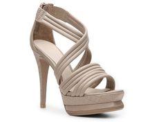Herve Leger Omari Leather Platform Sandal Women's Clearance Women's Shoes - DSW