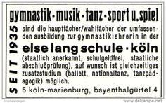 Original-Werbung/ Anzeige 1970 - ELSE LANG SCHULE / KÖLN - MARIENBURG - ca. 45 x 30 mm