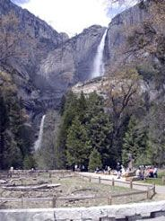 Yosemite Falls 2,425 ft  You can see Yosemite Falls from numerous places around Yosemite Valley.  It's also possible to hike to the top of Yosemite Falls.