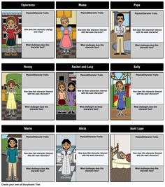 The House on Mango Street by Sandra Cisneros - Character Map: Have your students create a Character Map for The House on Mango Street by Sandra Cisneros!