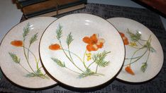 SET of 3 vintage 1970s Mikasa Woodland Poppy  FD by BuyfromGroovy