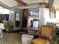 1937 airstream  as a retail shop.  Yes put that puppy inside!!!