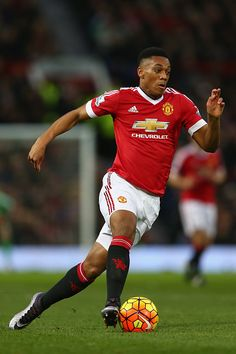 Anthony Martial of Manchester United during the Barclays Premier League match between Manchester United and West Ham United at Old Trafford on...