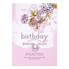 #Sakura Branch Invitation - #birthdayinvitation #birthday #party #invitation #cool #parties #invitations