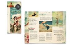 Vintage Clothing Tri Fold Brochure Template Design by StockLayouts