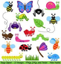 Bugs Clipart Clip Art Insects Clipart Clip Art por PinkPueblo