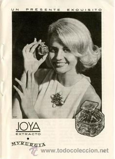 Página de publicidad Original *Perfume JOYA de MYRURGIA* - Año 1965
