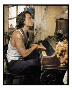 Johnny Depp, Madame Simon Residence, France, 2003. | 14 Jaw-Droppingly Gorgeous Celebrity Portraits