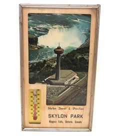 Vintage Skylon Tower Advertising Thermometer Niagara Falls Ontario Souvenir -- Awesome products selected by Anna Churchill