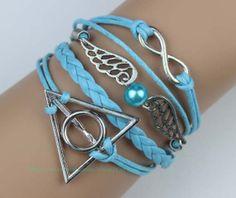 Infinity jewelry snitch and harry potter bracelet wax by Carlydiy, $5.99