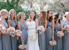 LOVE LOVE the bridesmaid dresses!!  Photography: Sylvie Gil Photography - sylviegilphotography.com  Read More: http://www.stylemepretty.com/2014/05/13/outdoor-garden-affair-full-of-classic-touches/