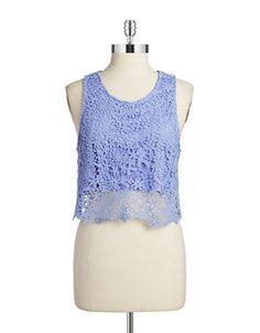 Crocheted Crop Top | Lord and Taylor