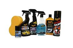 Meguiars 7Piece Ultimate Car Care Set Full Sized Products with Hot Shine Ultimate Quik Wax Interior Detailer Gold Class Car Wash Window Cleaner  More -- Be sure to check out this awesome product.