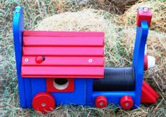 Locomotive Birdhouse  Made To Order by barrker on Etsy, $45.00