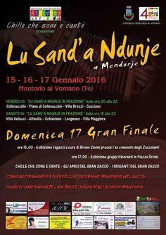 """Montorio al Vomano. Tre giorni ( 15-17 gennaio) per festeggiare """"Lu Sand'a Ndunje"""""""