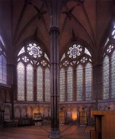 Catedral de Salisbury (Sala Capitular), ESTILO CURVILÍNIO O  DECORATED STYLE.