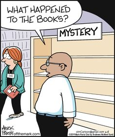 Off the Mark Funny Puns, Funny Cartoons, Hilarious, Reading Quotes, Book Quotes, I Love Books, Books To Read, Library Memes, Library Ideas