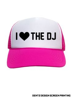 I love the DJ Snapback Trucker Hat  Hot Pink by DentzDesign, $19.00