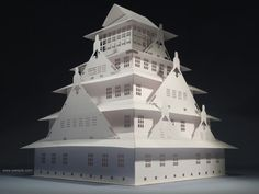 Picture of The Osaka Castle Pop-up card Kirigami Origamic Architecture