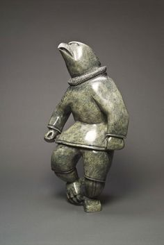 Napatchie Ashoona - Cape Dorset, Bird Shaman, 2002. - Stone. Collection of The Winnipeg Art Gallery. Gift of Dr. Harry Winrob.