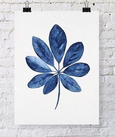 Tropical Leaf Wall Art Watercolor Print by driftwoodinteriors, $37.50