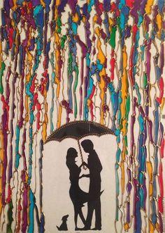 Купить или заказать картина на стекле, витражная роспись - 'Влюбленные' в интернет-магазине на Ярмарке Мастеров. Картина с изображением силуэтов влюбленных с характерным названием 'Влюбленные' выполнена с использованием трех техник: контурное вырезание, 'витражная роспись' и точечная роспись. Силуэты влюбленной пары под зонтом вырезаны из бумаги в технике контурного вырезания. Рисунок выполнен на стекле профессиональными витражными красками (производство Франция).
