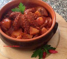 Polpo e patate in umido Chili, Beans, Pizza, Soup, Pane Casereccio, Vegetables, Recipes, Terracotta, Friends