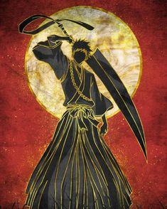 Ichigo Kurosaki Wallpaper, Ichigo Et Rukia, Bleach Rukia, Bleach Anime Art, Bleach Fanart, Samurai Anime, Samurai Art, Bleach Pictures, Bleach Characters