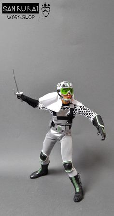"12"" custom figure with accessories of FANTOME from SAN KU KAI, japanese tv program"
