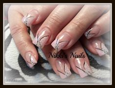 Pink Swirls by nikkisnails from Nail Art Gallery