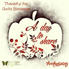 Be thankful for God's blessings!