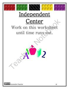 Math Centers Counting by Innovative Teacher #numbers #kindergarten #firstgrade