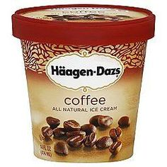 Haagen-Dazs coffee ice cream tub.