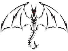 Red Eyes Dragon Tattoo Design | Tattoobite.com