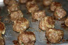 Basic Homemade Meatballs - A great, no-frills, meatball that can be used in casseroles, on sandwiches, for spaghetti and meatballs, and of course, our fabulously loved grape jelly meatballs.