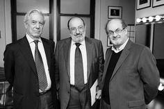 Mario Vargas Llosa, Umberto Eco and Salman Rushdie, May 2008 -by Beowulf Sheehan