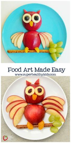 The one thing you need to make food art easy for your kids!- The one thing you need to make food art easy for your kids! Food Art Made Easy. The easy way to create fun food! Easy Food Art, Cute Food Art, Creative Food Art, Food Art For Kids, Food Kids, Easy Art, Food For Children, Fruit Art Kids, Dessert Design