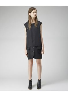 MM6 BY MAISON MARGIELA | Silk Combo Dress