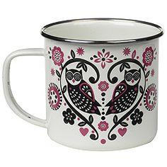 """I love this enamel mug by Scandinavian designer Nina Jarema"""