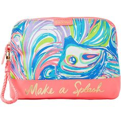 Lilly Pulitzer Lilly Pulitzer Bohemian Beach Pouch Wristlet ($48) ❤ liked on Polyvore featuring bags, handbags, clutches, special occasion clutches, wristlet pouch, bohemian purses, boho purses and blue evening purse